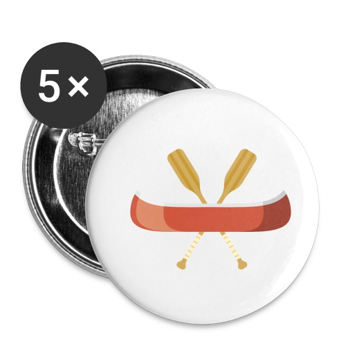 Canoe and Oars - Buttons small 1'' (5-pack)
