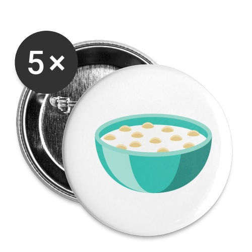 Bowl of Cereal - Buttons small 1'' (5-pack)