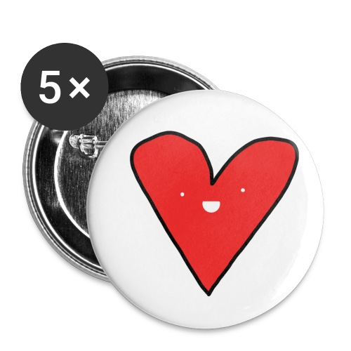 Heart - Buttons small 1'' (5-pack)