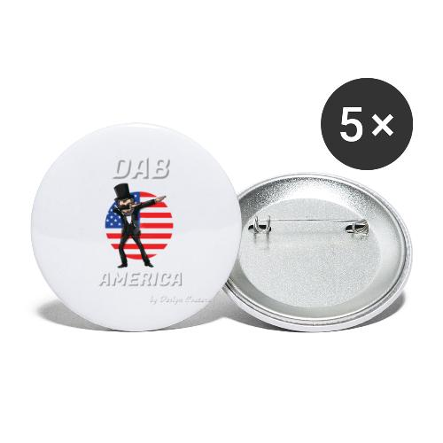 DAB AMERICA WHITE - Buttons small 1'' (5-pack)