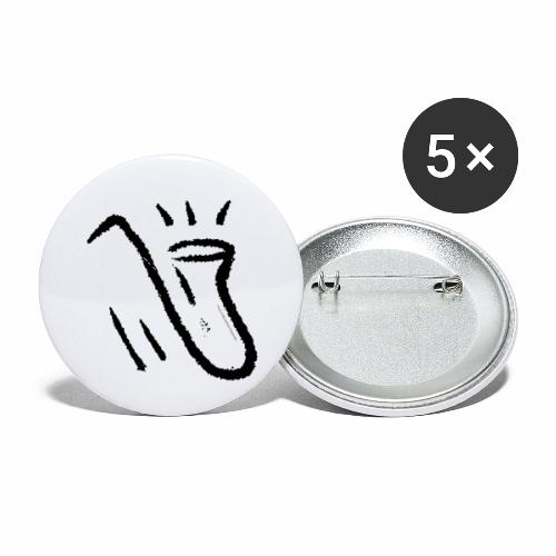 Saxophone white - Buttons small 1'' (5-pack)