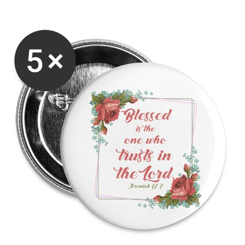 Jeremiah 17:7 - Buttons small 1'' (5-pack)