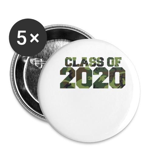 Class of 2020 Camo grad logo - Buttons small 1'' (5-pack)