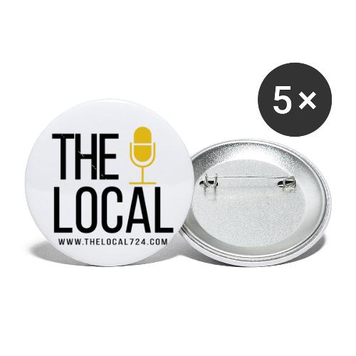Local transparent - Buttons small 1'' (5-pack)