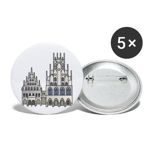 Town Hall Münster, Cityhall, Mayor - Buttons small 1'' (5-pack)