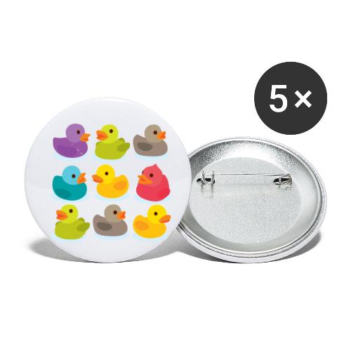 More rubber ducks to the people! - Buttons small 1'' (5-pack)