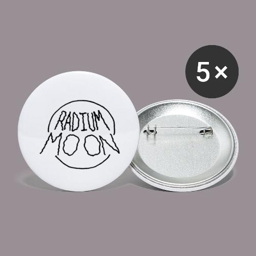 Radium Moon Black - Buttons small 1'' (5-pack)
