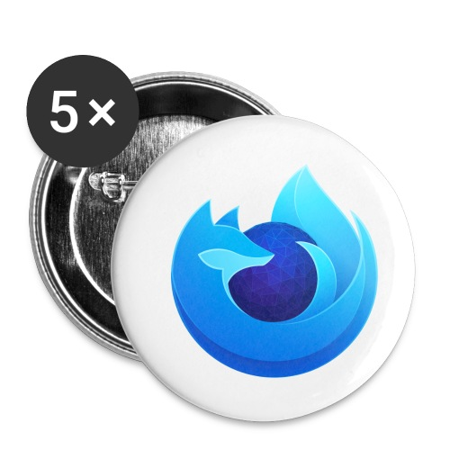 Firefox Browser Developer Edition - Buttons small 1'' (5-pack)