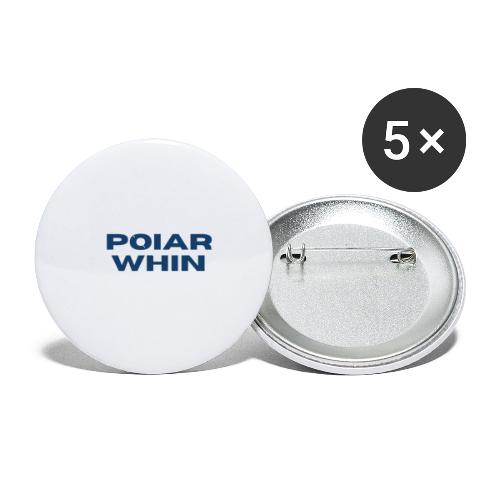 PoIarwhin Updated - Buttons small 1'' (5-pack)