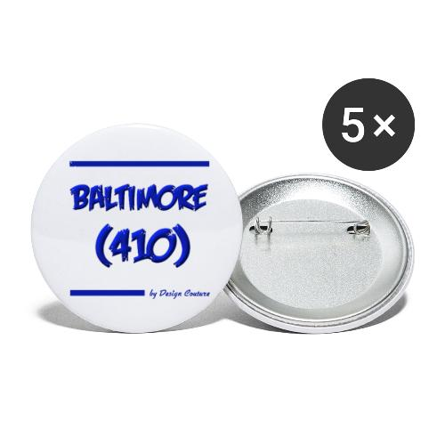 BALTIMORE 410 BLUE - Buttons small 1'' (5-pack)