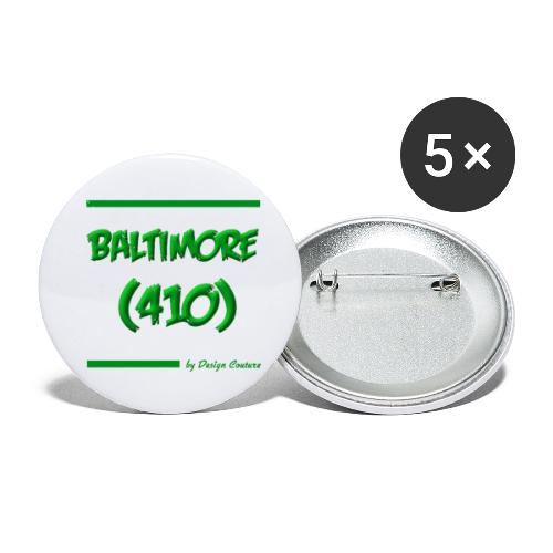 BALTIMORE 410 GREEN - Buttons small 1'' (5-pack)