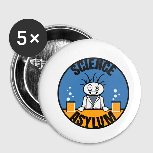 Science Asylum Logo - Buttons small 1'' (5-pack)