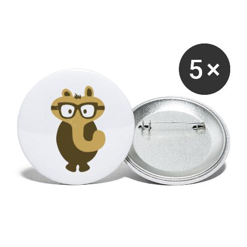 Funny Elephant Monster Wearing Glasses - Buttons small 1'' (5-pack)