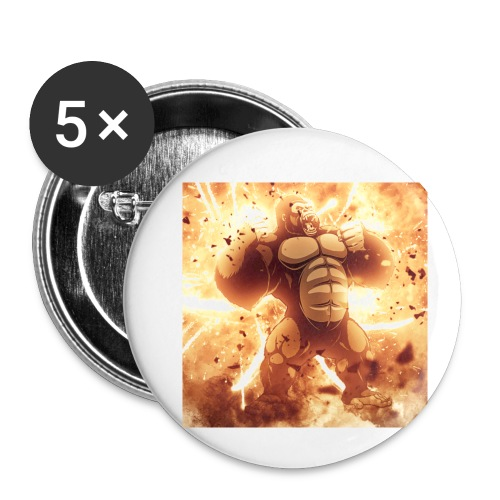 Angry Gorilla Explosion - Buttons small 1'' (5-pack)