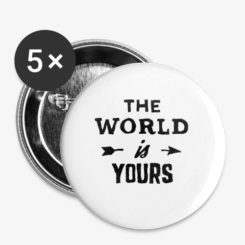 the world - Buttons small 1'' (5-pack)