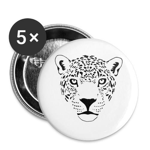 jaguar cougar cat puma panther leopard cheetah - Buttons small 1'' (5-pack)