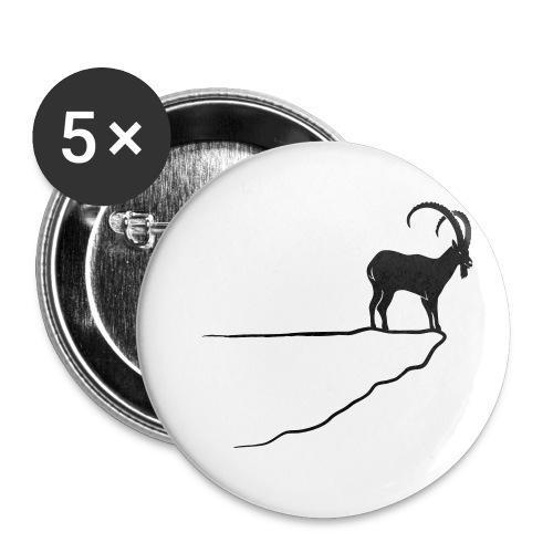 ibex capricorn mountain goat sheep rock climbing - Buttons small 1'' (5-pack)