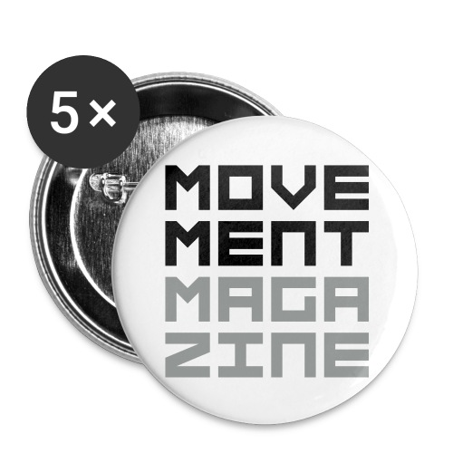 movementmagazine stacked - Buttons small 1'' (5-pack)
