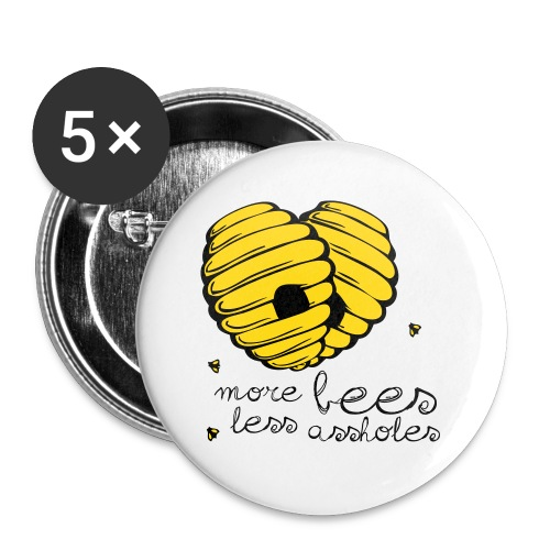 morebees2 - Buttons small 1'' (5-pack)