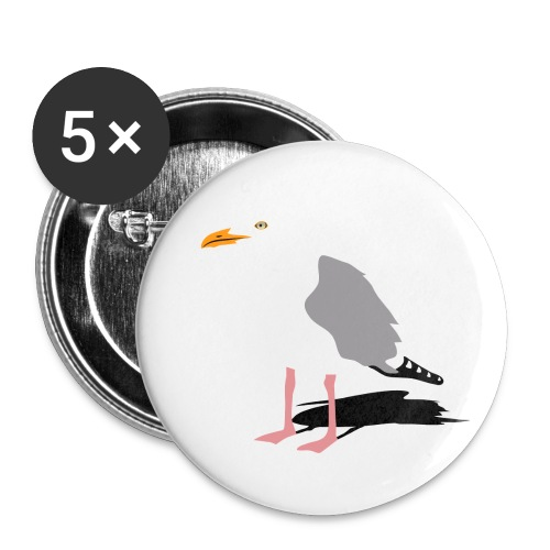 sea gull seagull harbour bird beach sailing - Buttons small 1'' (5-pack)