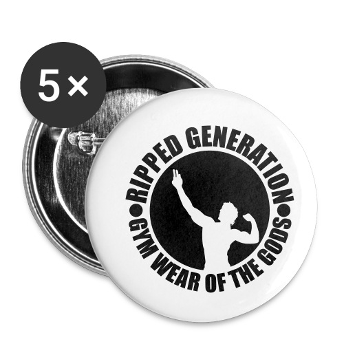 Ripped Generation Gym Wear of the Gods Badge Logo - Buttons small 1'' (5-pack)