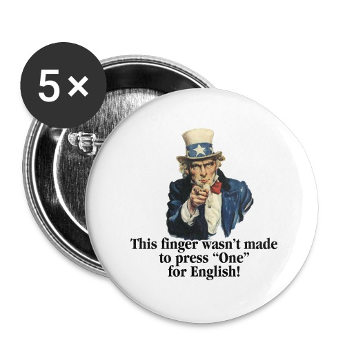 Uncle Sam - Finger - Buttons small 1'' (5-pack)