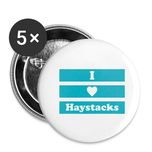 Haystacks Blue - Buttons small 1'' (5-pack)