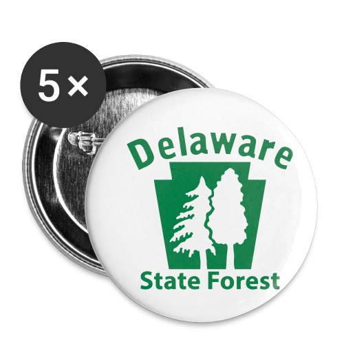 Delaware State Forest Keystone (w/trees) - Buttons small 1'' (5-pack)
