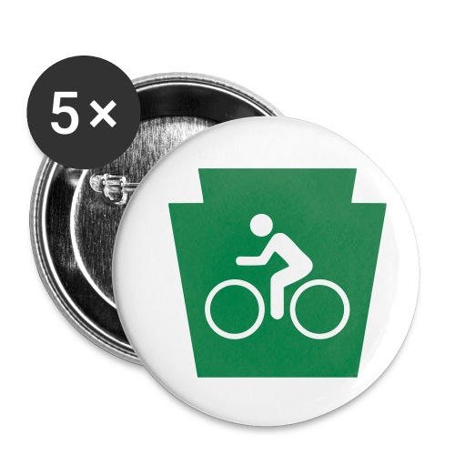 PA Keystone w/Bike (bicycle) - Buttons small 1'' (5-pack)