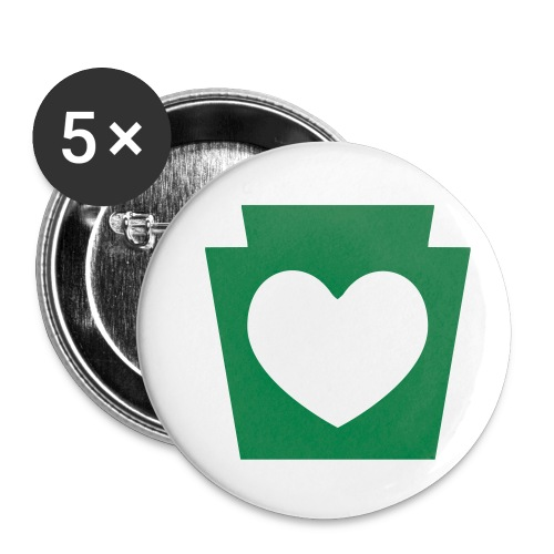 Love/Heart PA Keystone - Buttons small 1'' (5-pack)