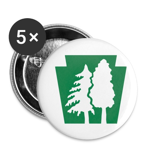 PA Keystone w/trees - Buttons small 1'' (5-pack)