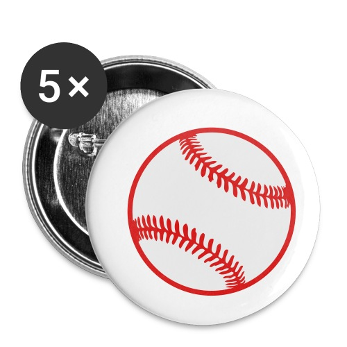 Baseball 2 color Team shirt - Buttons small 1'' (5-pack)