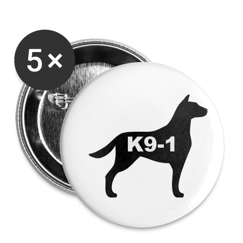 k9-1 Logo Large - Buttons small 1'' (5-pack)