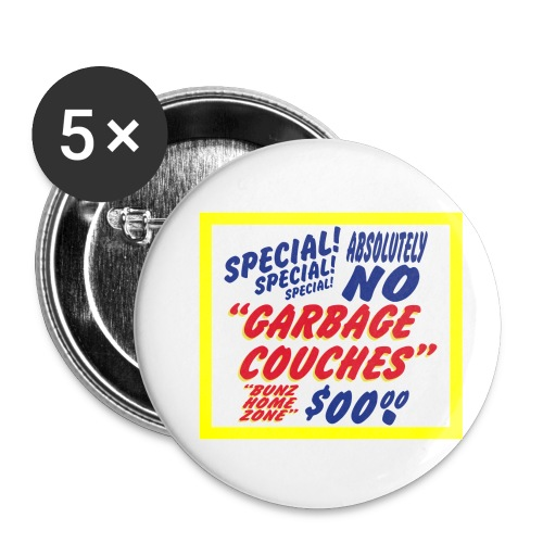 Bunz Home Zone Loyal Larry Garbage Couch - Buttons small 1'' (5-pack)