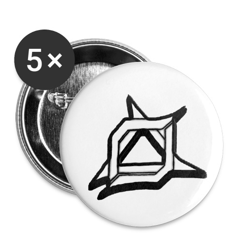Oma Alliance Black - Buttons small 1'' (5-pack)