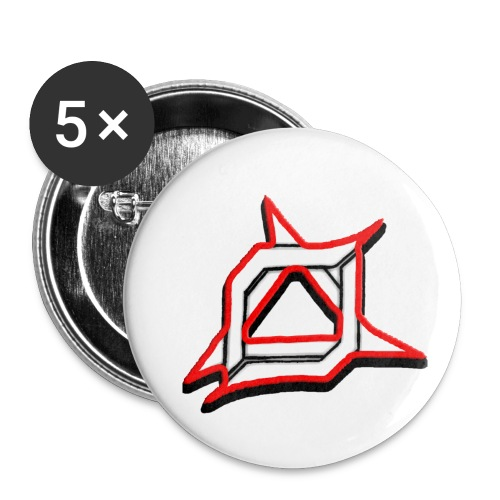 Oma Alliance Red - Buttons small 1'' (5-pack)