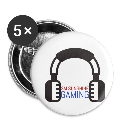 SALSUNSHINE GAMING LOGO - Buttons small 1'' (5-pack)