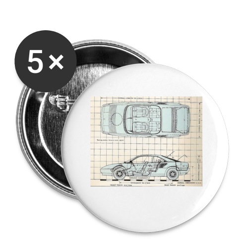 drawings - Buttons small 1'' (5-pack)