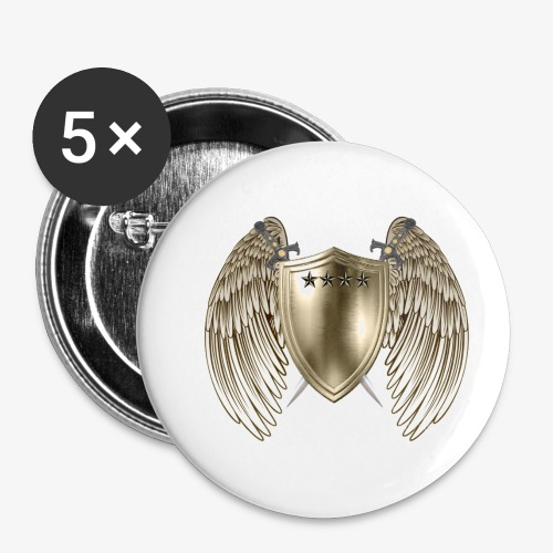 GOLD SHIELD-21 - Buttons small 1'' (5-pack)