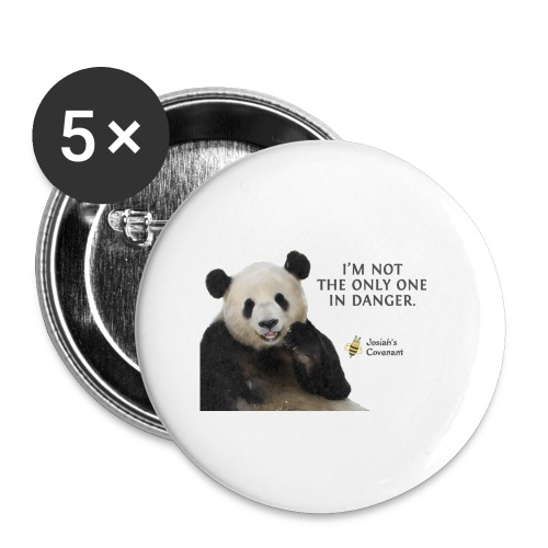 Endangered Pandas - Josiah's Covenant - Buttons small 1'' (5-pack)