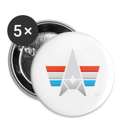 BHK Icon full color stylized TM - Buttons small 1'' (5-pack)