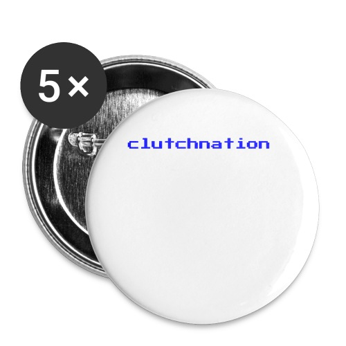clutchnation video game blue logo - Buttons small 1'' (5-pack)