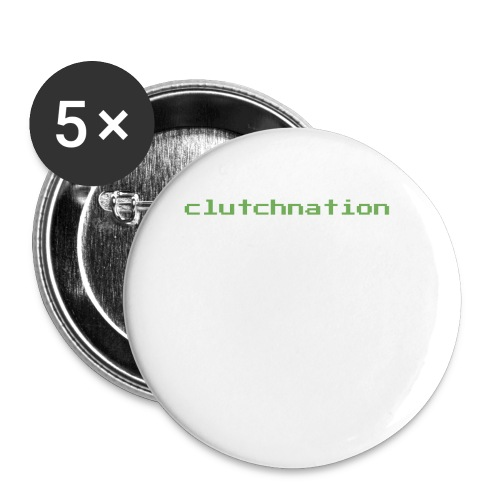 clutchnation green merch videogame - Buttons small 1'' (5-pack)