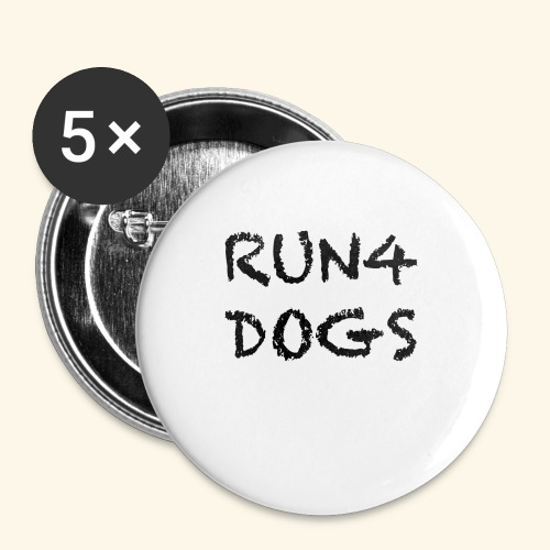 RUN4DOGS NAME - Buttons small 1'' (5-pack)