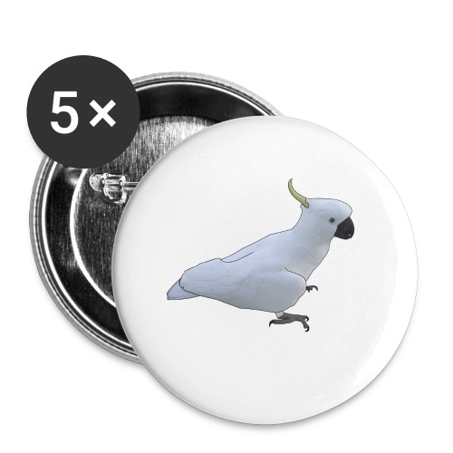 Cockatoo with more details - Buttons small 1'' (5-pack)