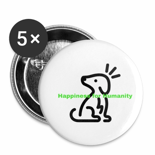 Happiness for Humanity - Buttons small 1'' (5-pack)