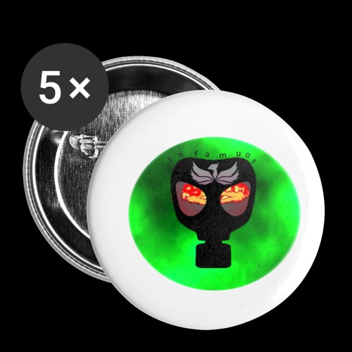Infamous - Buttons small 1'' (5-pack)