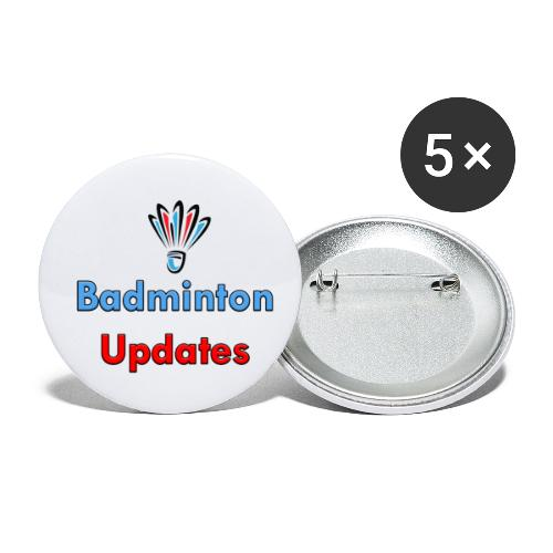 Badminton Updates Logo - Buttons small 1'' (5-pack)