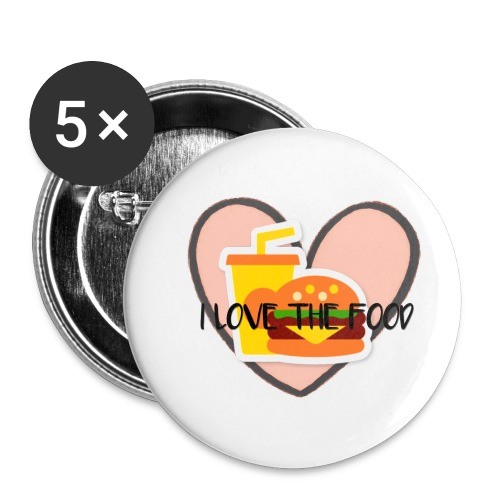 Food - Buttons small 1'' (5-pack)