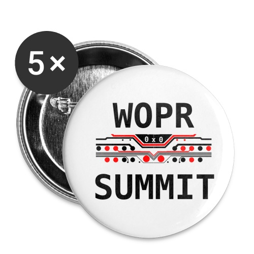 WOPR Summit 0x0 RB - Buttons small 1'' (5-pack)